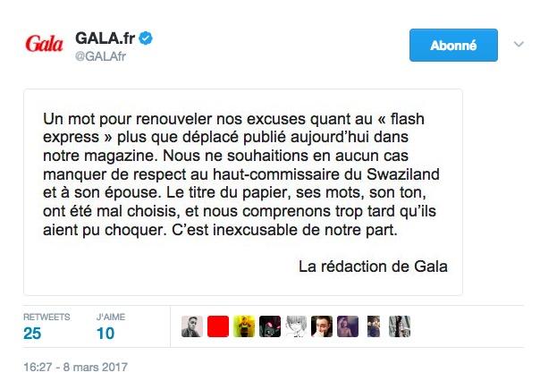 Le dérapage raciste de Gala fait polémique