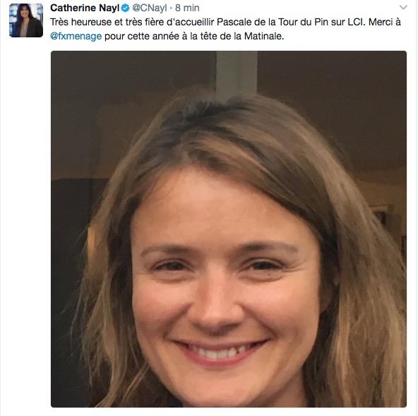 Pascale de la Tour du Pin quitte BFM TV pour LCI
