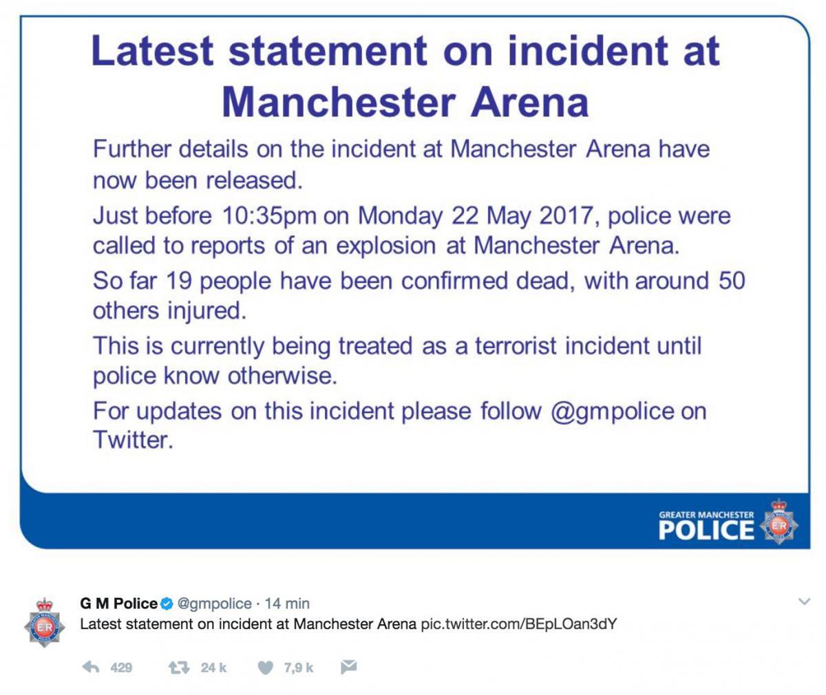 Manchester : terrible attentat lors d'un concert d'Ariana Grande