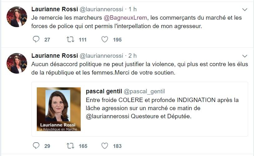 La députée LREM Laurianne Rossi agressée sur un marché à Bagneux