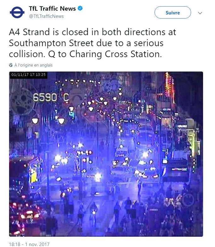 Un taxi renverse des piétons — Londres
