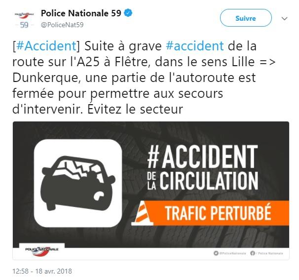 En direct accident de deux minibus transportant des for Police nationale lille