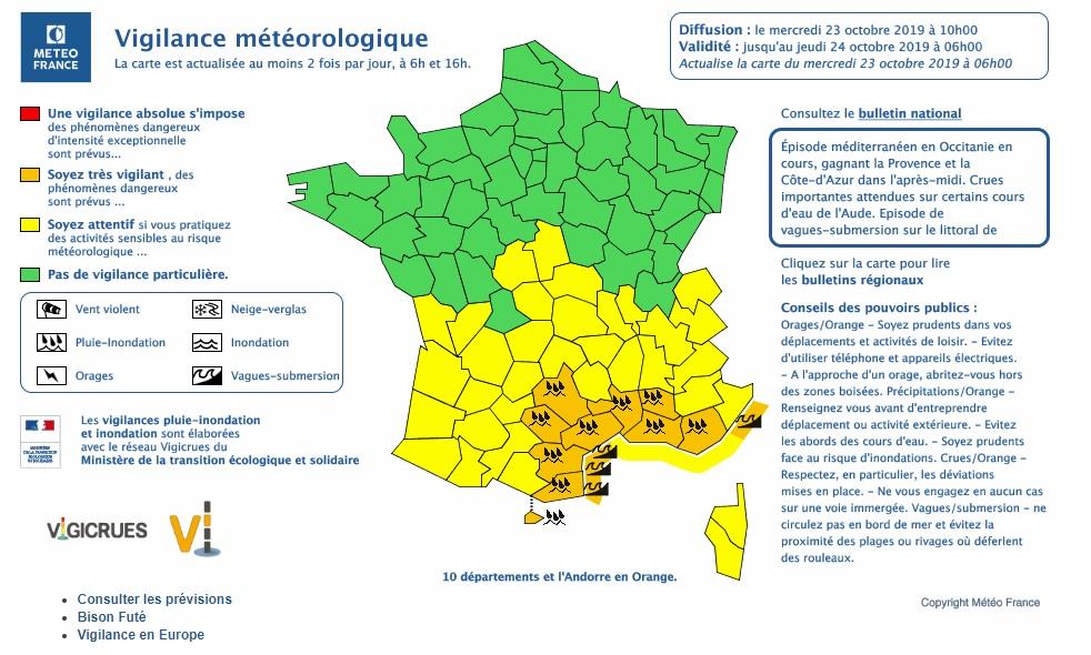 Météo La Vigilance Orange Pour La Haute Corse A été Levée