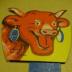Portrait de La vache heureuse .