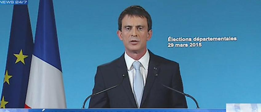 """EN DIRECT - Départementales - Manuel Valls reconnait """"la victoire de la droite républicaine"""" et """"un net recul de la gauche"""""""
