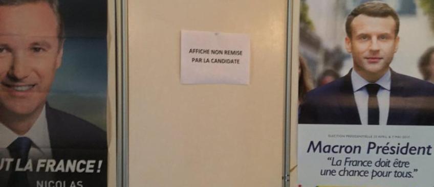 Présidentielle 2017: Aucune affiche de Marine Le Pen ne figure dans les bureaux de vote à l'étranger ! Voilà pourquoi...
