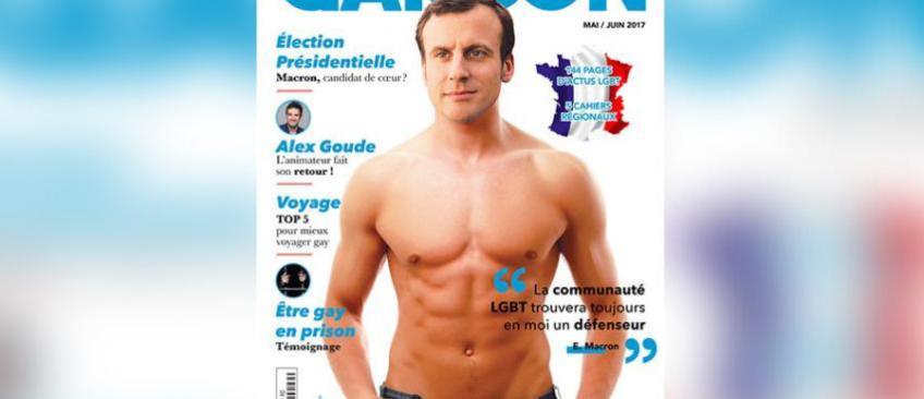Emmanuel Macron torse nu en Une d'un magazine gay: L'équipe du candidat n'apprécie pas vraiment le photomontage