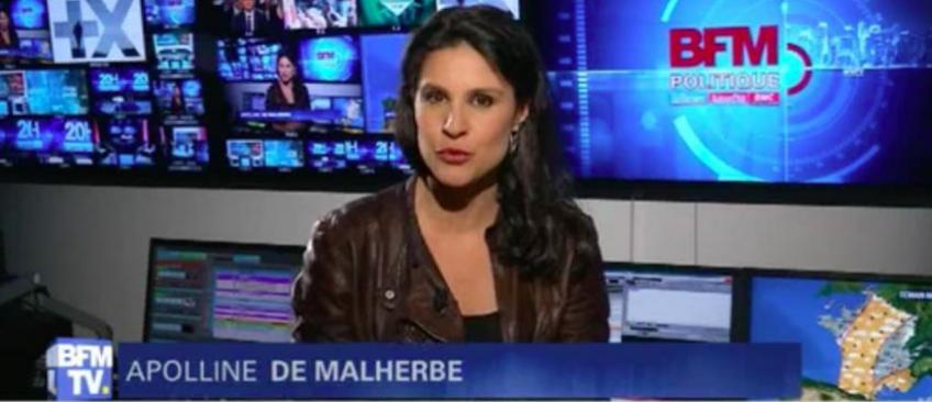 """La journaliste politique de BFM TV, Appoline de Malherbe se lâche: """"Et merde... Va te faire foutre !"""" - Regardez"""