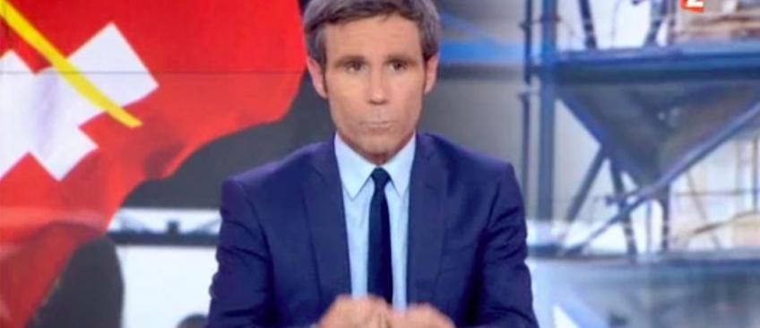Au 20h de France 2, David Pujadas pique un coup de gueule en direct - Regardez