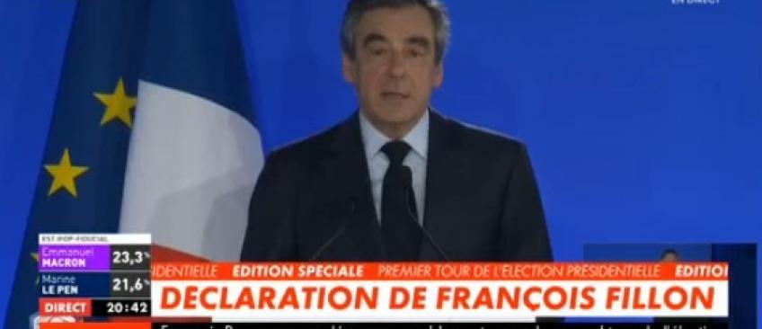 """François Fillon: """"Un parti extrémiste est aux portes du pouvoir. Je voterai Emmanuel Macron"""" - Regardez"""
