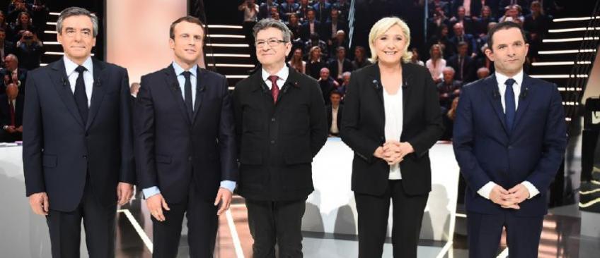 """EN DIRECT  - Macron """"hostile"""" lui aussi au débat de France 2 le 20 avril - La chaîne le maintient malgré l'absence annoncée de Mélenchon"""