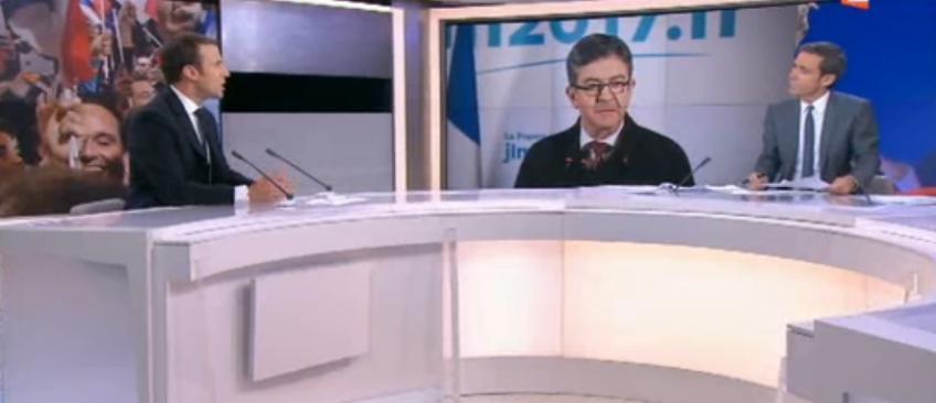 """Emmanuel Macron au 20h de France 2: """"Je suis triste pour les électeurs de Jean-Luc Mélenchon, ils valent mieux que ça"""" - Regardez"""