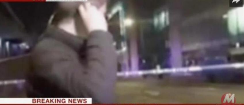 Manchester: Un journaliste de la BBC perturbé en plein direct par une détonation à quelques mètres de lui - VIDÉO