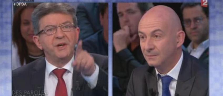 """En direct, Jean-Luc Mélenchon accuse le journaliste économique François Lenglet d'être """"corrompu"""" - Regardez"""