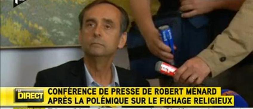 """En pleine conférence de presse, Robert Ménard traite un journaliste d'Itélé de """"menteur"""" - Regardez"""