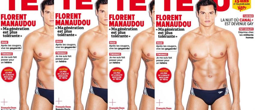 """En petite tenue et plus sexy que jamais, Florent Manaudou pose pour le magazine gay """"Têtu"""""""