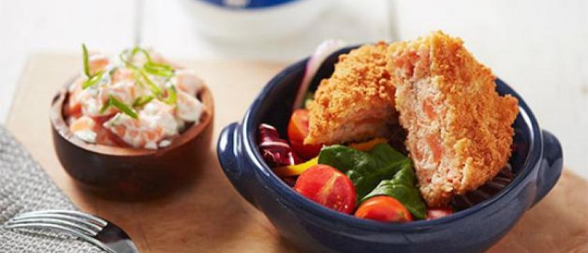 Déjeuner sain: Le burger de saumon et patate douce