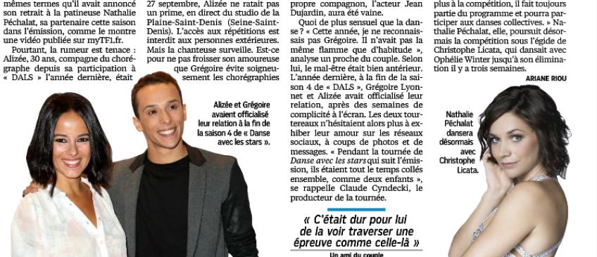 """Le Parisien révèle les raisons de la jalousie d'Alizée: """"Après l'échec de son album et sa tournée, elle vit mal le succès de Grégoire"""""""
