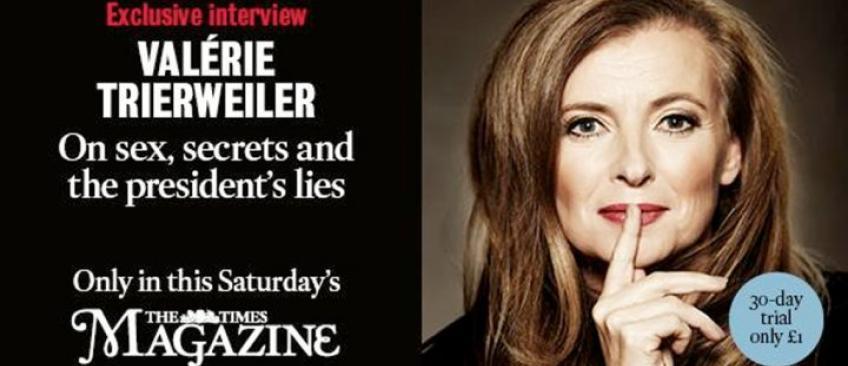 """Valérie Trierweiler accuse l'Elysée de lui avoir fait administrer """"un supplément de sédatifs"""" et de """"l'espionner"""""""""""