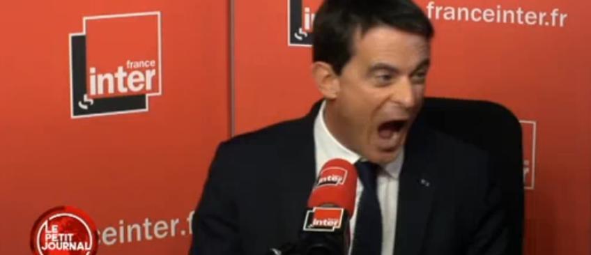 Regardez la vidéo dont tout le monde parle ! Manuel Valls qui se lâche dans les studios de France Inter...