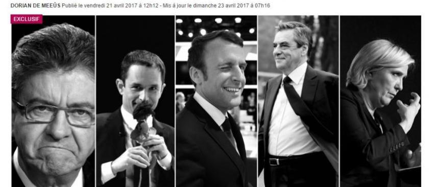 """Présidentielle 2017: Que vaut le sondage """"interdit"""" publié cette nuit en Belgique et qui affirme que tout a changé ?"""