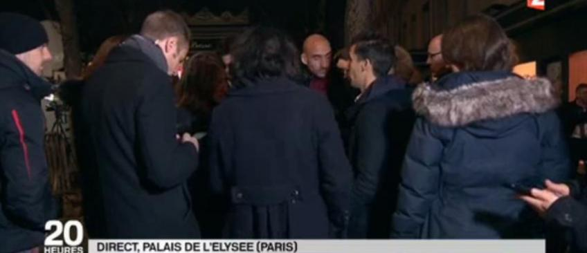 Après l'annonce de François Hollande, France 2 diffuse en direct une image qui énerve l'Elysée - Regardez