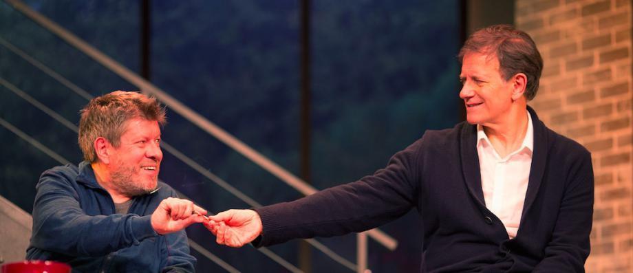 """C8 diffusera en direct la pièce de théâtre écrite par Laurent Ruquier """"A droite, à gauche"""" avec Francis Huster et Régis Laspalès le samedi 10 février à 21h http://www.jeanmarcmorandini.com/article-377244-c8-diffusera-en-direct-la-piece-de-theatre-ecrite-par-laurent-ruquier-a-droite-a-gauche-avec-francis-huster-et-regis-laspales-le-samedi-10-fevrier-a-21h.html"""