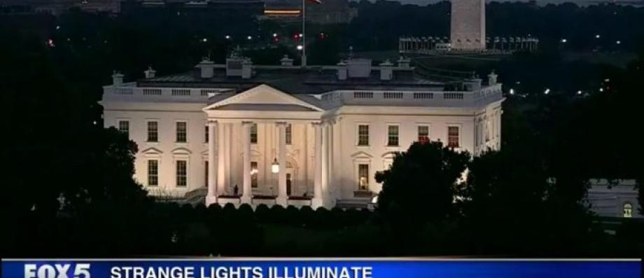 Les chaînes de télé US s'interrogent sur d'étranges lumières apparues cette nuit à la Maison Blanche -  VIDÉO