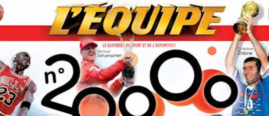 Le quotidien sportif L'Equipe est absent des kiosques ce matin et sa version en ligne n'est pas disponible en raison d'une grève