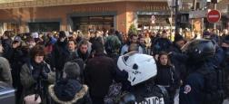 Gilets Jaunes : La direction des Galeries Lafayette à Paris a fait évacuer et fermer le magasin vers 14h après une occupation de quelques minutes par les manifestants - Vidéo