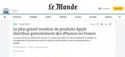 """Arnaque: De fausses pages Facebook et des faux sites du quotidien """"Le Monde"""" promettent des iPhone gratuits"""