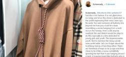 Suite à de vives critiques, la marque Burberry retire de la vente un pull accusé d'inciter au suicide et s'excuse
