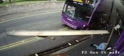 Angleterre: Un homme se fait violemment renverser par un bus et se relève tranquillement pour boire une bière ! - VIDÉO