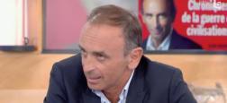 """Eric Zemmour condamné à 5.000 euros d'amende pour provocation à la haine après son passage dans """"C à vous"""" en septembre dernier"""