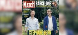 Stéphane Bern présente pour la première fois son compagnon Lionel en Une de Paris Match qui paraîtra demain - Regardez