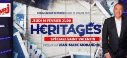 """""""Héritages"""" de Jean-Marc Morandini fait son retour sur NRJ 12 le jeudi 14 février à 21h avec une spéciale Saint-Valentin"""