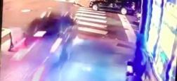 L'image folle d'une voiture qui renverse tout sur son passage avant de s'écraser, frôlant des piétons sains et saufs par miracle - VIDEO