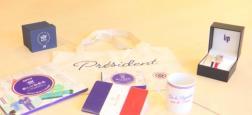 Les produits dérivés de l'Elysée désormais en vente aux Galeries Lafayette à Paris, un an après l'ouverture de la boutique en ligne