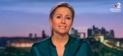 Audiences 20h: Anne-Sophie Lapix sur France 2 une nouvelle fois à seulement 600.000 téléspectateurs de Gilles Bouleau sur TF1 hier soir
