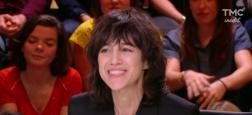 """Audiences """"20h"""": """"Quotidien"""" au plus haut hier sur TMC avec 1,6 million de téléspectateurs pour Yann Barthes avec Charlotte Gainsbourg"""