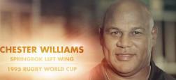 L'ancien ailier Chester Williams, champion du monde de rugby avec l'Afrique du Sud en 1995, est décédé à l'âge de 49 ans
