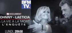 """Audience: Le documentaire """"Johnny-Laeticia, à la vie à la mort"""" a réuni près de 1,3 million de téléspectateurs hier soir sur BFMTV"""