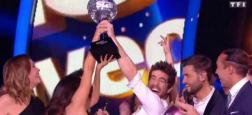 """Face à Lenni-Kim, Agustin Galiana a remporté hier soir -d'un cheveu - la saison 8 de """"Danse avec les stars"""" en direct sur TF1"""