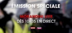 """Avant l'intervention d'Emmanuel Macron, ce soir, """"Morandini Live Spécial"""" en direct à 10h35 sur CNews pour poursuivre le débat et le bilan du week-end de violences"""