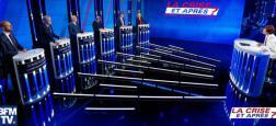 Audience: Le débat sur la crise avec les chefs des partis politiques diffusé hier en prime sur BFMTV attire 832.000 téléspectateurs