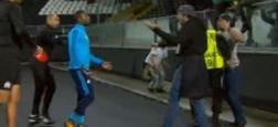 Patrice Evra suspendu en UEFA jusqu'à la fin de la saison après son coup de pied à un supporter de l'OM - Rupture de contrat à l'amiable entre le joueur et le club - VIDEO