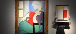 """Le tableau """"Femme assise près d'une fenêtre (Marie-Thérèse)"""" de Pablo Picasso a été vendu hier 103,4 millions de dollars lors d'enchères organisées chez Christie's, à New York"""