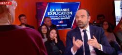 Audiences: Près de 850.000 téléspectateurs ont suivi hier soir sur LCI le débat entre le Premier ministre Edouard Philippe et dix Français