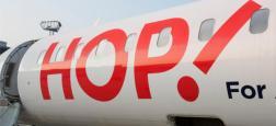 """La grève de six jours des pilotes de Hop! s'est achevée hier soir mais le retour à la normale sera """"progressif"""": Encore vingt vols annulés aujourd'hui"""