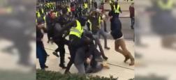 Gilets Jaunes - Les images de la tentative de lynchage de l'équipe de journalistes de LCI à Rouen attaquée par une dizaines d'individus, malgré la protection d'un service de sécurité